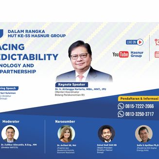 HUT Ke-55 Hasnur Group, Daftarkan Diri Anda di Webinar 'Embracing Unpredictability with Technology and Strategic Partnership'