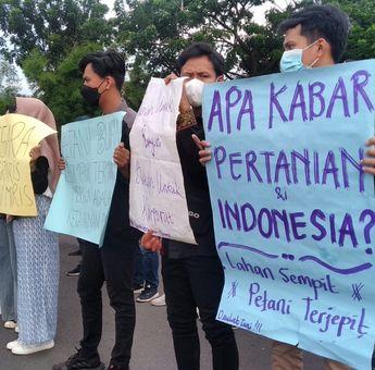 Aksi Demo Hari Tani, Mahasiswa Sumsel Tuntut Kesejahteraan Petani