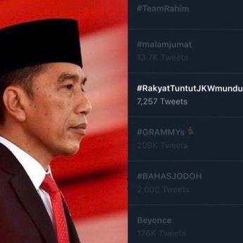 Dianggap Merugikan Rakyat, Trending Tagar 'Rakyat Tuntut Jokowi Mundur'