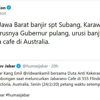 Ridwan Kamil & Cinta Laura Buka Cafe di Australia, Fadli Zon: Pulang Urusi Banjir