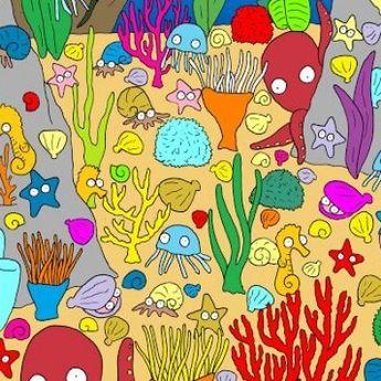 Tes Kejelian Mata, Temukan Ikan di Dasar Laut Kurang dari 30 Detik!