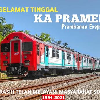 Resmi  KA  Prameks Berhenti Beroperasi Jogja-Solo PP, 'Kami Akan Selalu Mengenangmu'