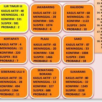 Berikut Kecamatan di Palembang  yang Bebas dari Zona Merah Covid-19