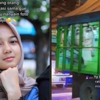 10 Potret Cut Rauzha, Gadis Cantik yang Wajahnya Hiasi Belakang Truk