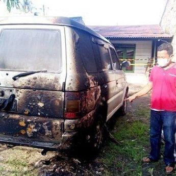 Liput Lokasi Perjudian, Mobil Wartawan Metro TV Dibakar Orang Tak Dikenal