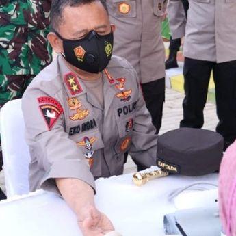 Bakti Kesehatan Vaksinasi Massal  Dan Pemeriksaan Penyakita Tak Menular  Polda Sumatera Selatan
