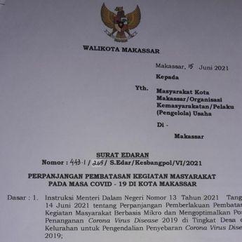 Danny Kembali Perpanjang PPKM di Makassar hingga 28 Juni 2021