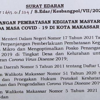 PPKM di Makassar: Warkop, Restoran, Mal dan Tempat Hiburan Tutup Jam 5 Sore