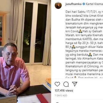 Kisah Dermawan Jusuf Hamka Sumbangkan 10 Hektar untuk Makam Covid-19