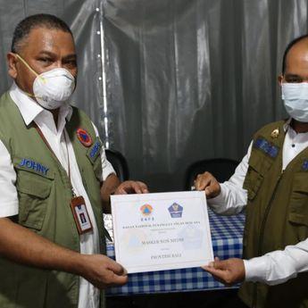 Pemprov Bali Terima Bantuan Sebanyak 50.000 Masker dari BNPB RI