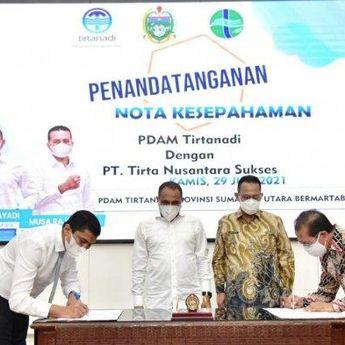 Gubernur Sumut Minta PDAM Tirtanadi Penuhi Kebutuhan Air Minum 11.000 Liter per Detik