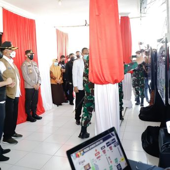 Pastikan Data Tracing, Panglima TNI Marsekal Hadi Kunjungi Jatim