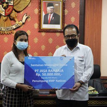 Penyerahan Santunan Jasa Raharja Bagi Keluarga Korban Tenggelamnya Kapal Yunice, Wagub Bali Ucapkan Terimakasih