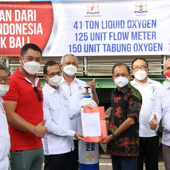 Gubernur Koster Apresiasi Kadin Indonesia, Bali Terima Bantuan 41 Ton Liquid Oksigen, 120 Unit Flow Meter, dan 150 Unit Tabung Oksigen