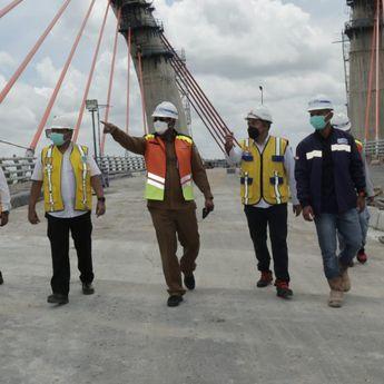 Selesai Dua Pekan Lagi, Jembatan Alalak Segera Uji Kelayakan