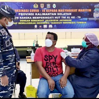 Sambut HUT ke-76 TNI AL, LANAL Banjarmasin Gelar Servak Covid-19 bagi Warga Pesisir Kalsel