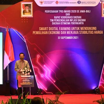 Rapat Koordinasi Daerah TPID DIY Smart Digital Farming untuk Mendukung Pemulihan Ekonomi dan Menjaga Stabilitas Harga