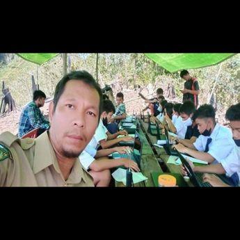 Siswa Gunakan Sinyal Malaysia, Demi Mengikuti Pelaksanaan ANBK Nasional