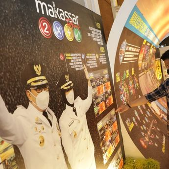 Makassar Raih Juara Pertama Stand Terbaik di Apeksi 2021