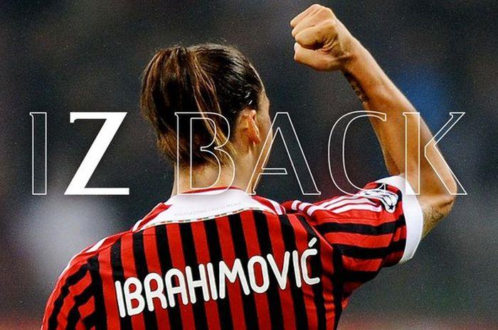Zlatan Ibrahimovic dikabarkan resmi bergabung kembali dengan AC Milan pada Sabtu (28/12).