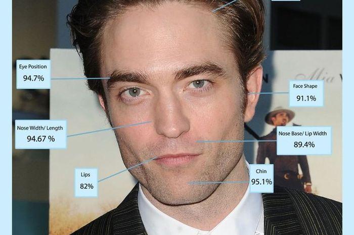 Robert Pattinson menjadi pria dengan wajah tertampan versi golden ratio beauty phi