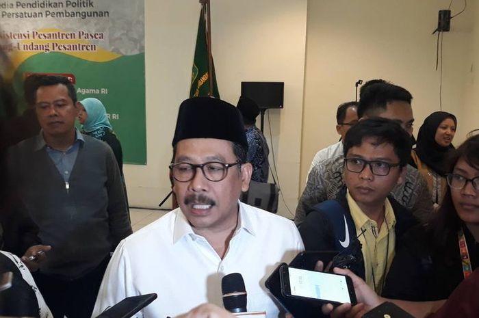 Wakil Menteri Agama Zainut Tauhid Saadi saat ditemui di kantor DPP Partai Persatuan Pembangunan (PPP), Jakarta Pusat, Jumat (6/12/2019).