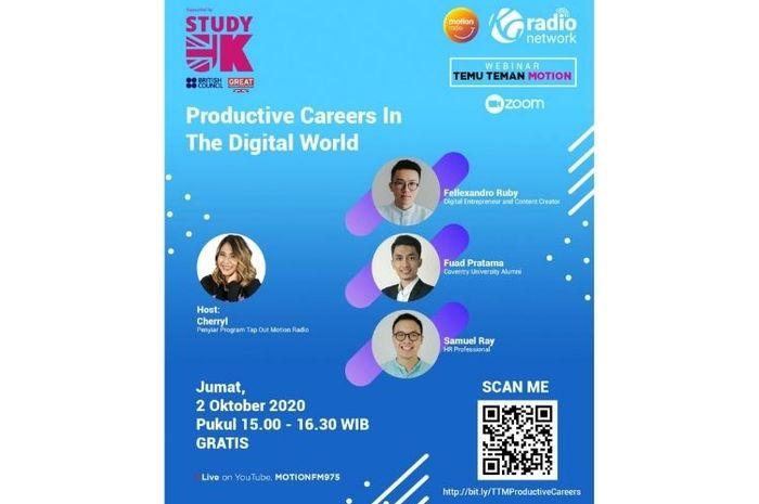 Webinar Temu Temen Motion: Productive Careers in the Digital World