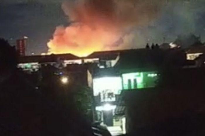 Mako brimob kebakaran.
