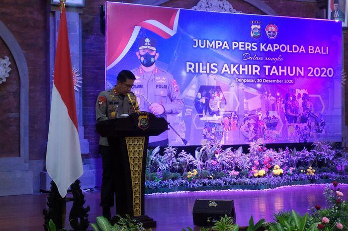 Rilis Akhir tahun 2020, Kinerja Polda Bali Dalam Setahun