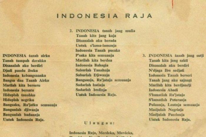 Lirik Lagu Indonesia Raya 3 Stanza Ciptaan Wage Rudolf Supratman Sonora Id