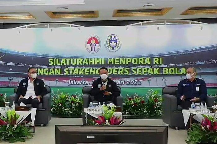 Menpora Menjamin Agar Kompetisi Bola Di Indonesia Hidup Kembali