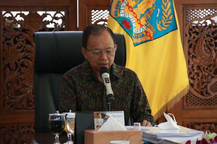 Gubernur Bali, Wayan Koster Menjadi Pembicara Dalam Rapat Koordinasi Nasional Penanggulangan Bencana Tahun 2021 Secara Virtual