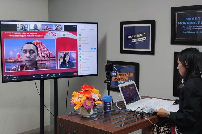 Webinar OJK Regional VI Sulampua waspada penipuan berkedok investasi