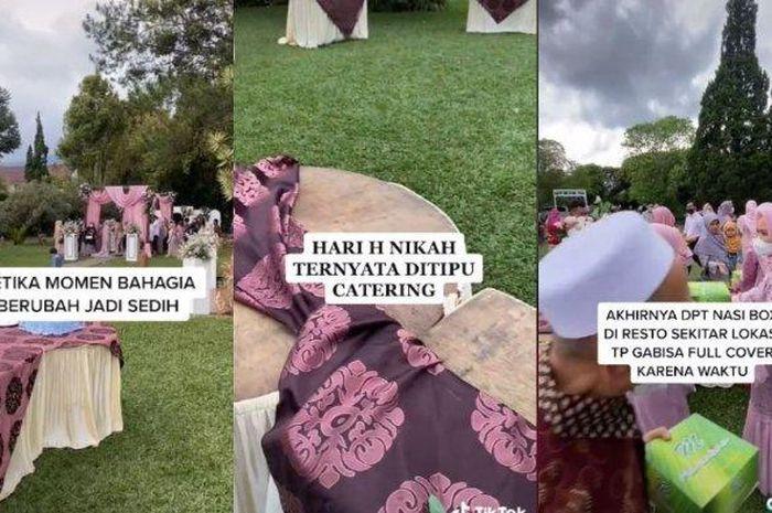 Viral oknum katering tidak datang di hari H Pernikahan