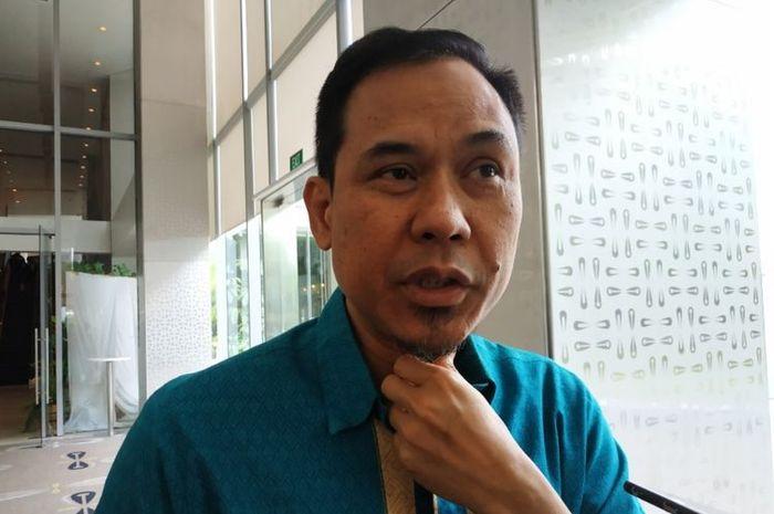 Juru Bicara Front Pembela Islam (FPI), Munarman, usai mengisi diskusi di Cikini, Jakarta Pusat, Selasa (31/12/2019).