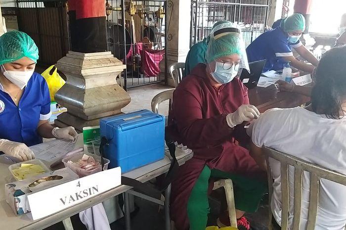 Kegiatan Vaksinasi Covid-19 bagi warga Kota Denpasar beberapa waktu lalu.