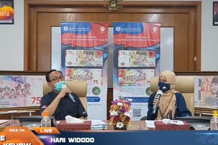 Hari Widodo, Kepala Perwakilan Bank Indonesia Sumatera Selatan dalam acara Live Talkshow (04/05/2021)