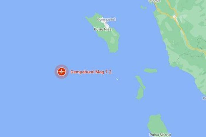 Gempa 7,2 Guncang Nias