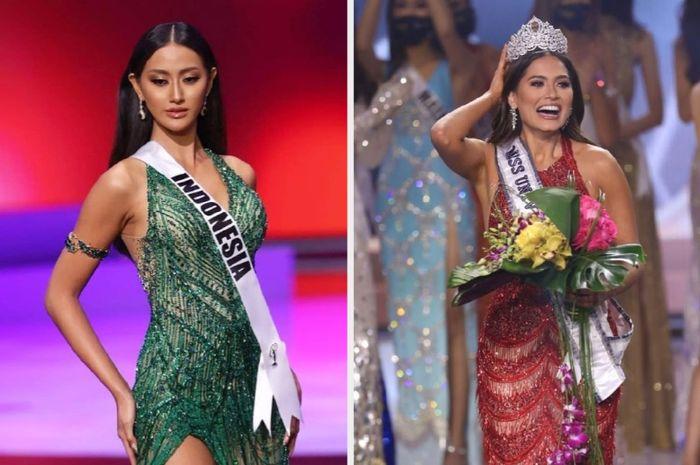 Ayu Maulida Putri (Puteri Indonesia 2020) dan Andrea Meza (Miss Universe 2021)