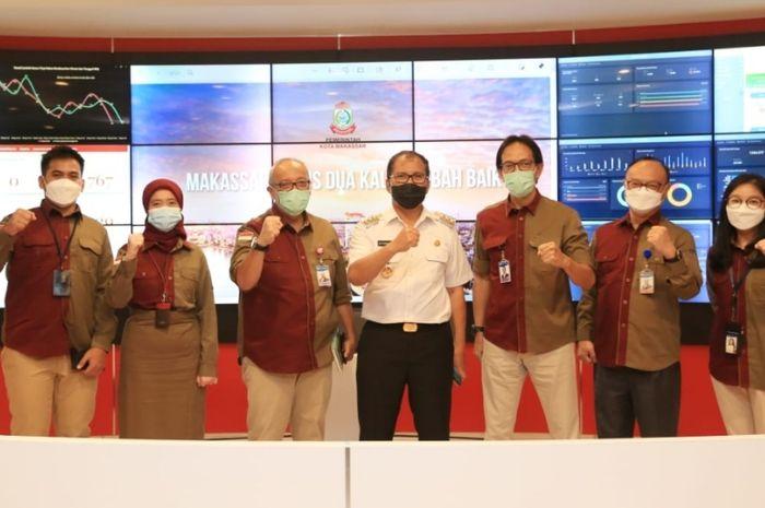 Momen kunjungan jajaran BI Sulsel di Balaikota Makassar