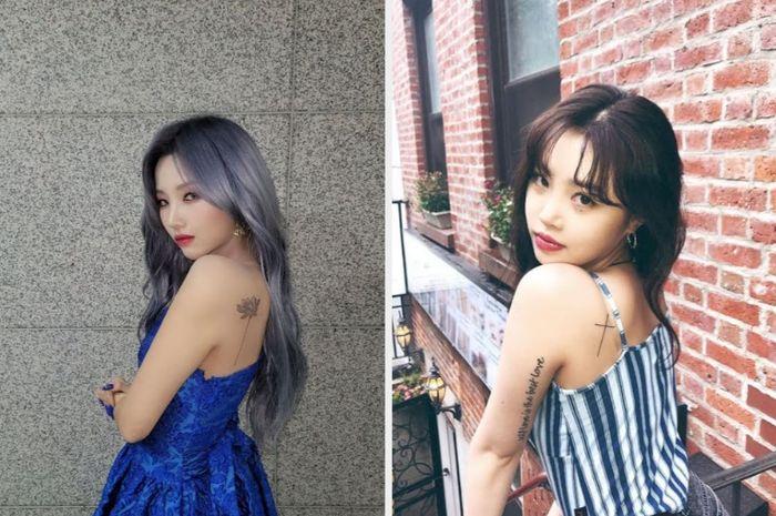 Idol wanita yang memiliki tato