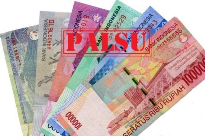 Ilustrasi uang palsu