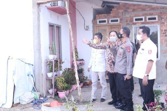 Kapolda Sumsel Irjen Pol Eko Indra Heri S melaunching sebanyak 622 unit rumah yang akan dibangun berlokasi di kawasan Perumahan Griya Duta Tanah Mas Km 14 Kabupaten Banyuasin.