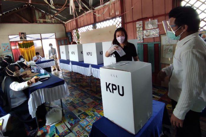 Pemilih saat PSU Pilwali Banjarmasin