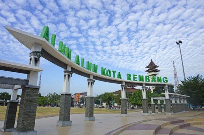 Illustrasi Alun-alun kota Rembang
