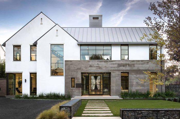 Ilustrasi rumah menghadap utara.