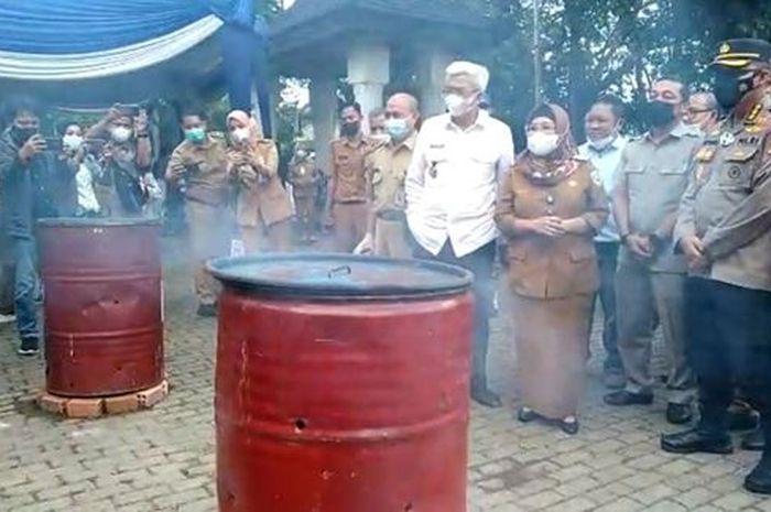 Dinas Kearsipan Provinsi Sumatera Selatan musnahkan arsip In Aktif Organisasi Perangkat Daerah (OPD)