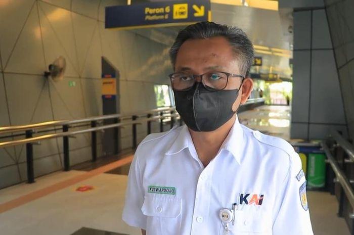 Manager Humasda Daop 2 Bandung Kuswardoyo, Kamis (17/6/2021)