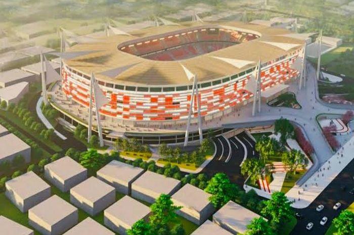 Ilustrasi desain Stadion Mattoanging