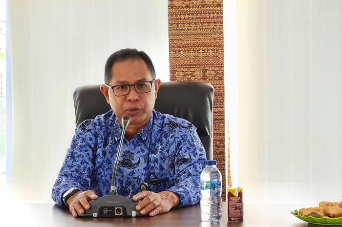 Kepala Dinas Pendidikan Sulsel. Prof Muhammad Jufri saat konferensi pers terkait pelaksanaan PPDB